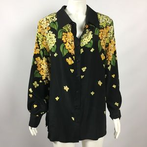 ART TO WEAR Vintage Silk Blouse Large